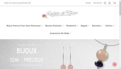 Site internet de Reflets de Bijoux