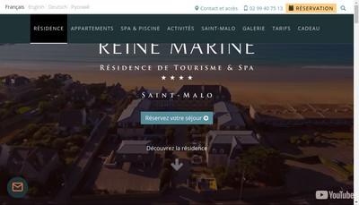 Site internet de Residence Reine Marine