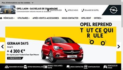 Site internet de Garage Opel
