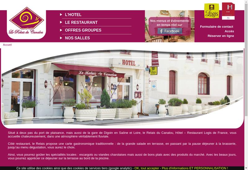 Capture d'écran du site de Le Relais du Canalous