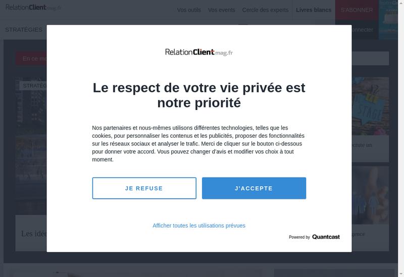 Capture d'écran du site de Relation Client 35