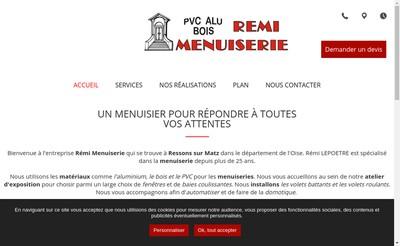 Site internet de SARL Remi Menuiserie