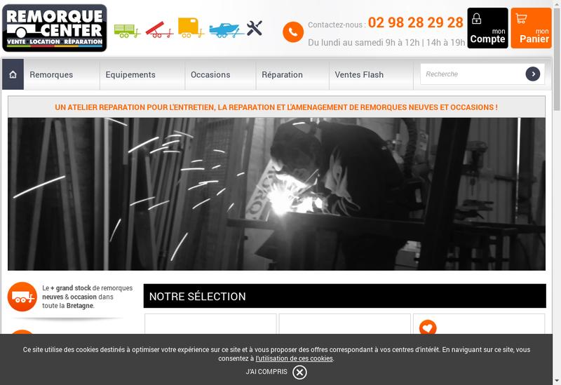 Capture d'écran du site de Lc Loisirs-Remorque Center-Remorq'Center
