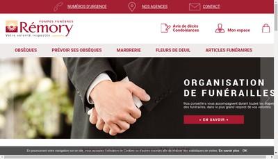 Site internet de Pompes Funebres Remory SARL