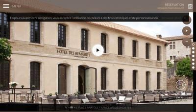 Site internet de Hotel des Remparts