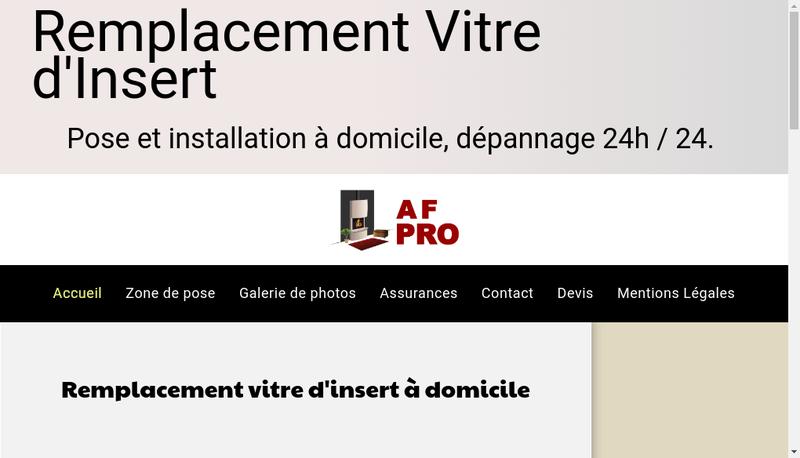Capture d'écran du site de AF-Pro