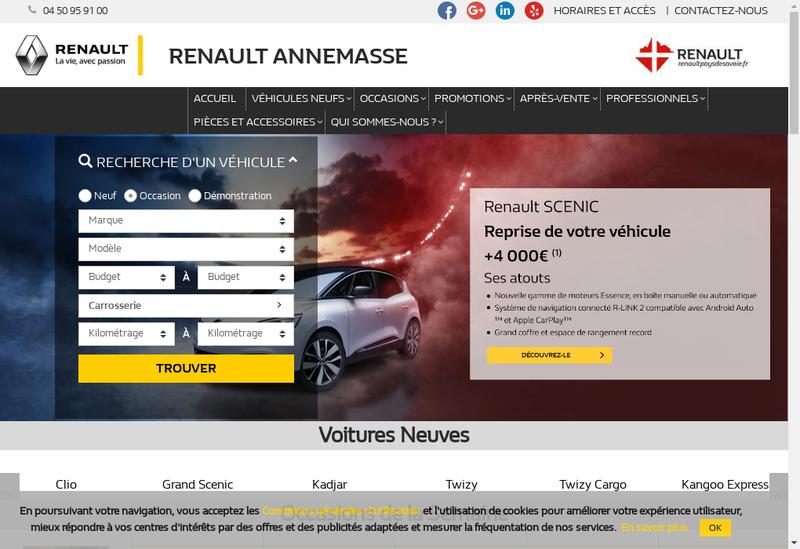 Capture d'écran du site de Jacques Duverney Annemasse