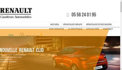 Site internet de Cauderan Automobiles