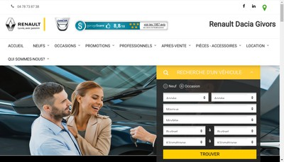 Site internet de Givors Automobiles SAS
