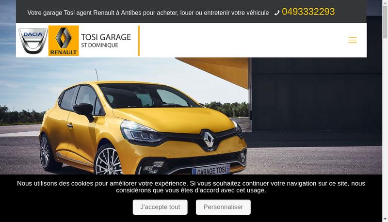 Capture d'écran du site de Holding Tosi Saint Dominique