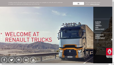 Site internet de Renault Trucks, Renault VI , Truckone, Volvo Group Trucks Sales & Mar