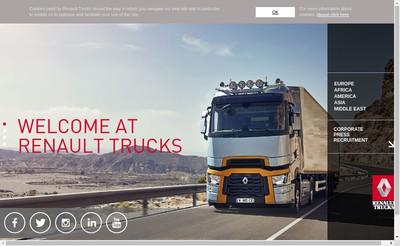 Site internet de Renault Trucks Marseille
