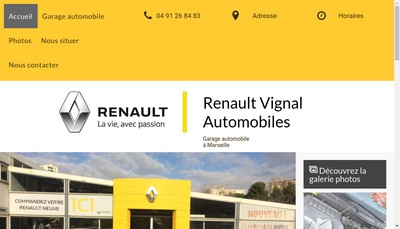Site internet de Vignal Automobiles