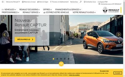Site internet de Renault
