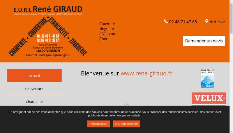 Capture d'écran du site de Ancien Secteur Charpente-Couverture-Zi