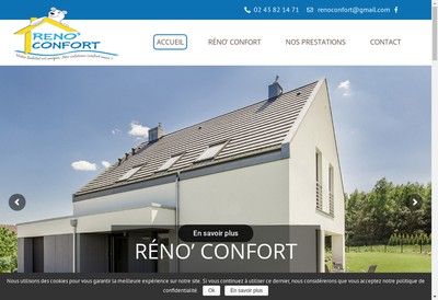Site internet de Reno'Confort