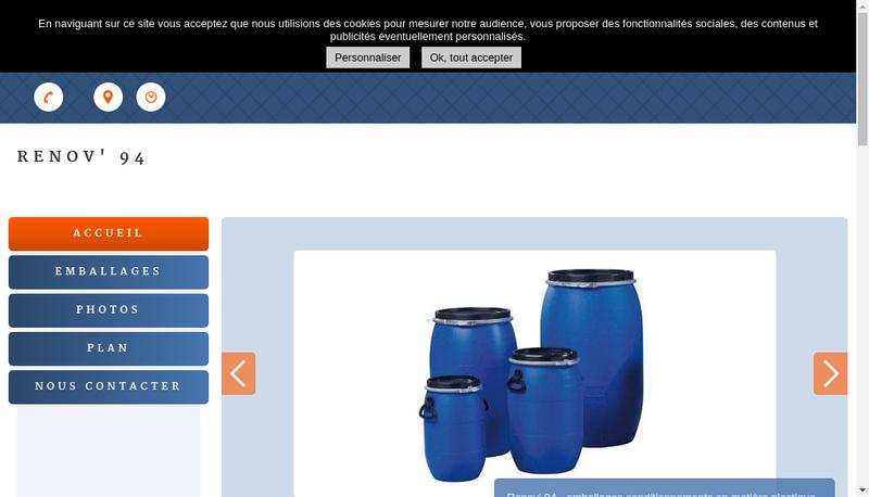 Capture d'écran du site de Renov 94