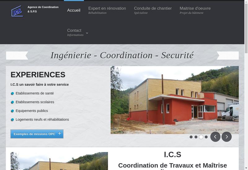Capture d'écran du site de ICS