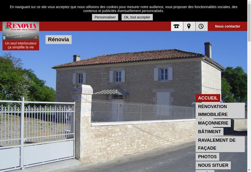 Capture d'écran du site de Leonard Batiment