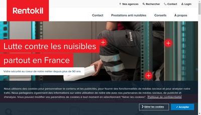 Site internet de Rentokil Sanitation