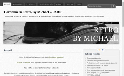 Site internet de Retro By Michael
