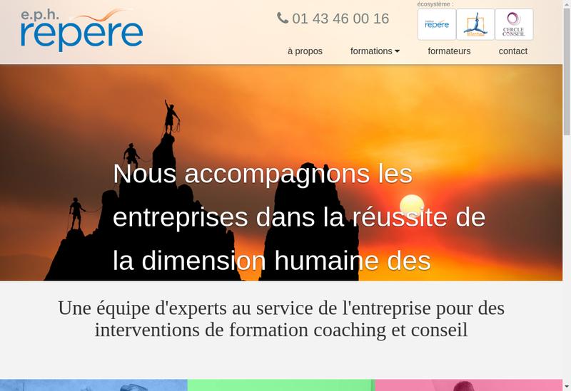 Capture d'écran du site de Expressions du Potentiel Humain