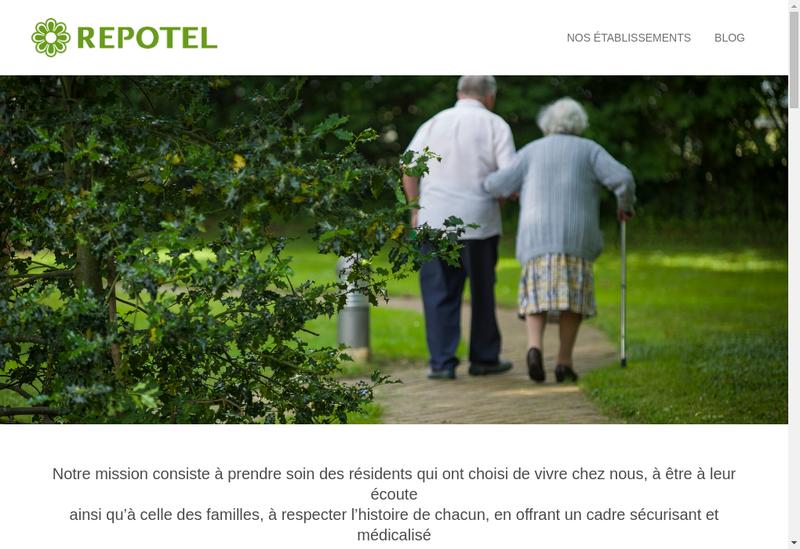 Capture d'écran du site de Repotel Marcoussis