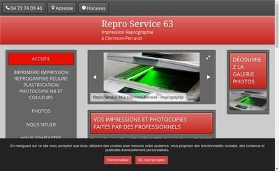 Site internet de Repro Service 63