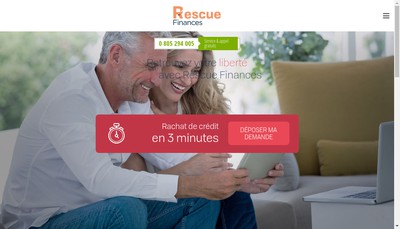 Site internet de Rescue Finances
