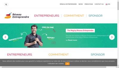 Site internet de Reseau Entreprendre International