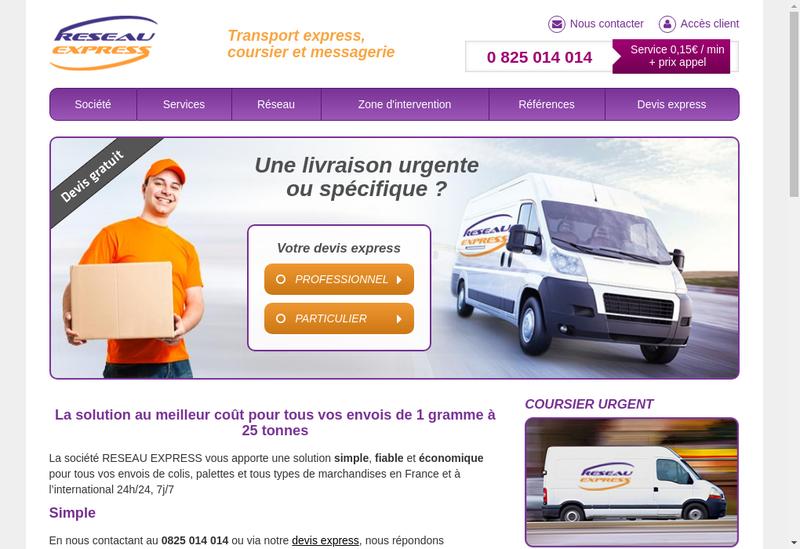 Capture d'écran du site de Fast Line-Coursier Net-Livraisons Reseau Express