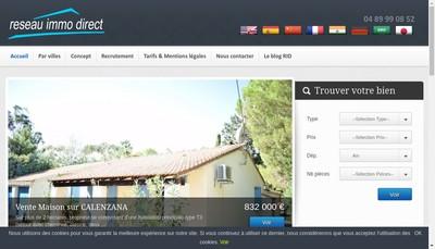 Site internet de Reseau Immo Direct