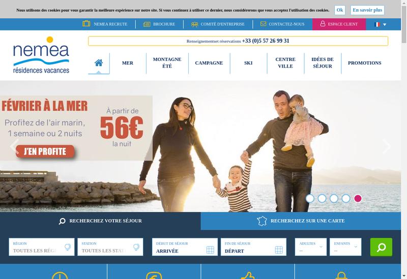 Capture d'écran du site de Kermael