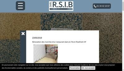 Site internet de Resine Sol Industriel Barros