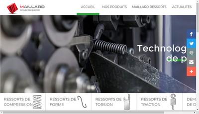 Site internet de Ressorts Maillard