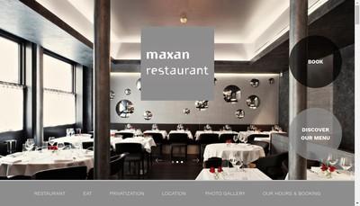 Site internet de Maxan