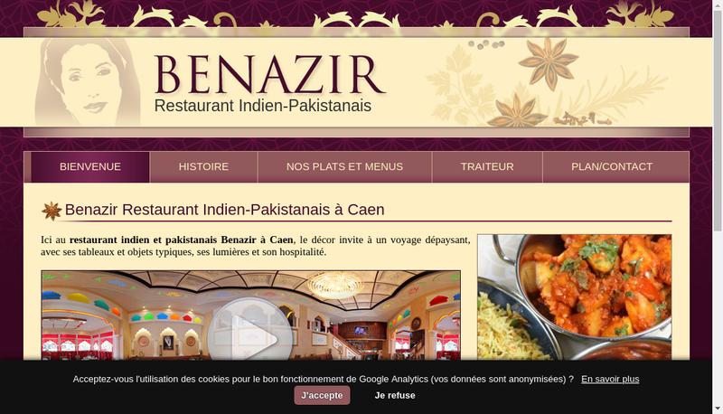 Capture d'écran du site de Benazir