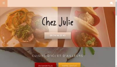 Site internet de Chez Julie