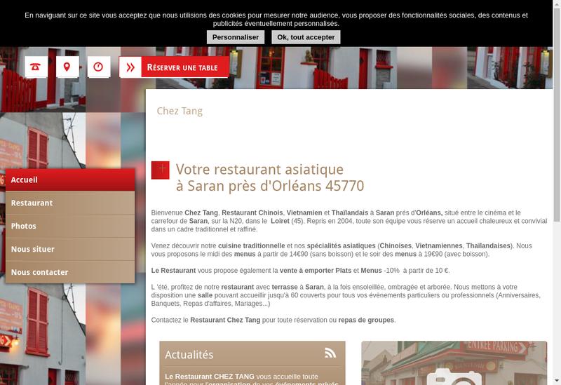 Capture d'écran du site de Chez Tang