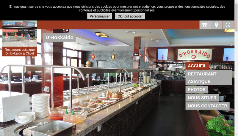 Capture d'écran du site de DX