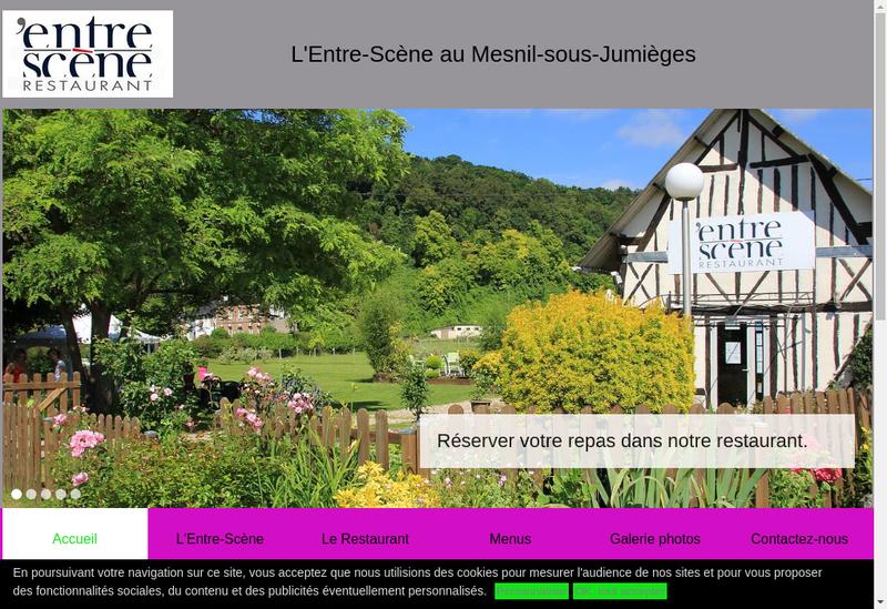 Capture d'écran du site de L'Entre Scene