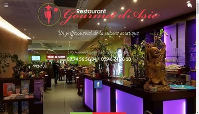 Site internet de Gourmet d'Asie