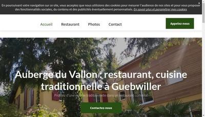 Site internet de L' Auberge du Vallon