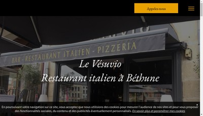 Site internet de Le Vesuvio