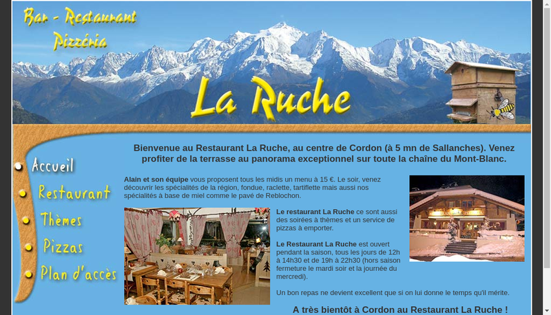 Site internet de Restaurant la Ruche