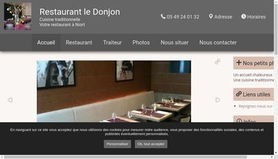Site internet de Restaurant du Donjon