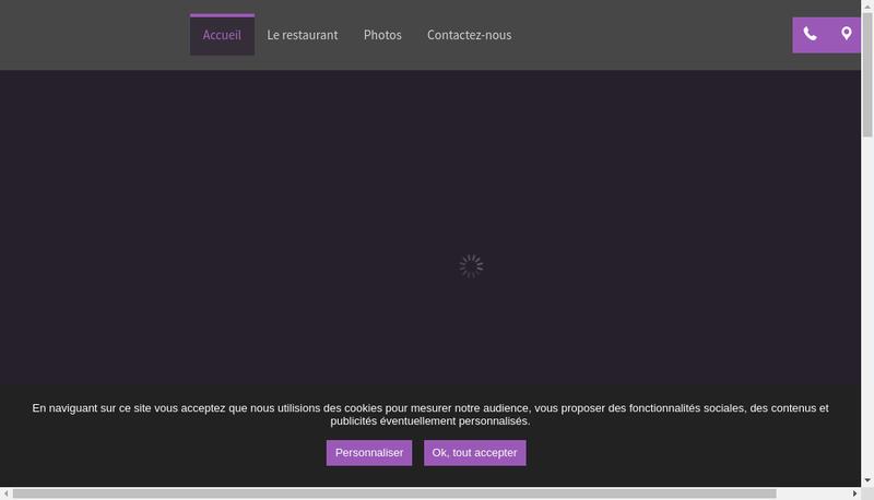 Capture d'écran du site de Le Gourmet