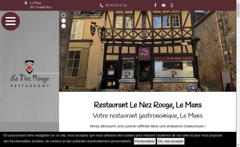 Capture d'écran du site de Le Nez Rouge