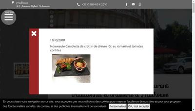 Site internet de L'Entrecote de Mulhouse