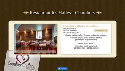 Site internet de Restauration des Halles
